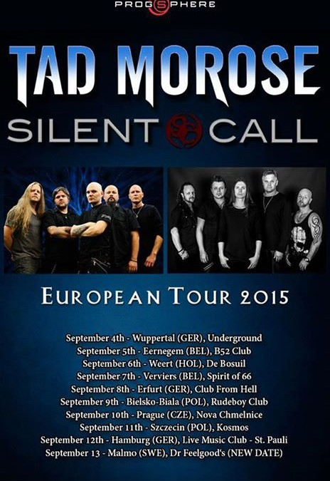 Tour dates set for Tad Morose / Silent Call European Tour 2015
